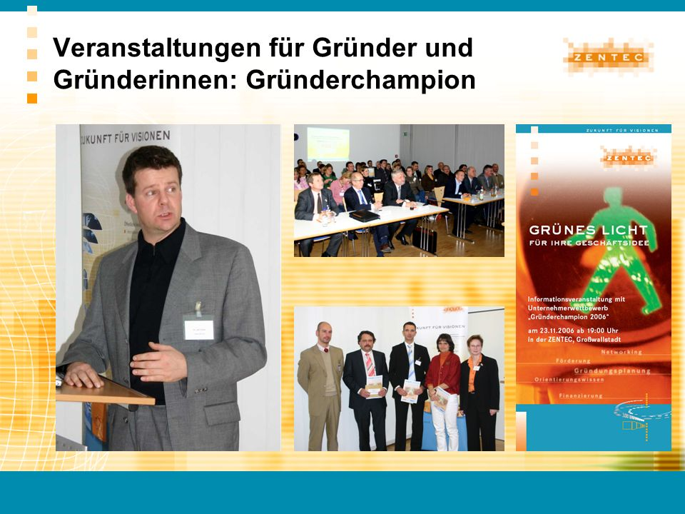 Veranstaltungen für Gründer und Gründerinnen: Gründerchampion