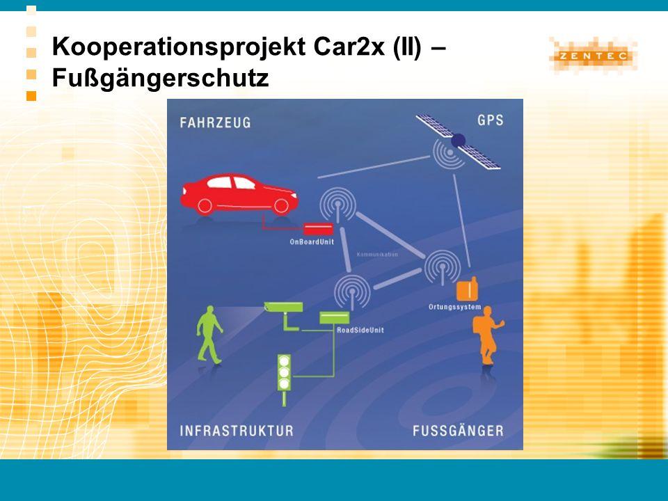 Kooperationsprojekt Car2x (II) – Fußgängerschutz