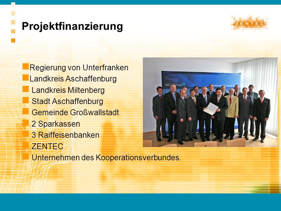 Projektfinanzierung Regierung von Unterfranken Landkreis Aschaffenburg Landkreis Miltenberg Stadt Aschaffenburg Gemeinde Großwallstadt 2 Sparkassen 3