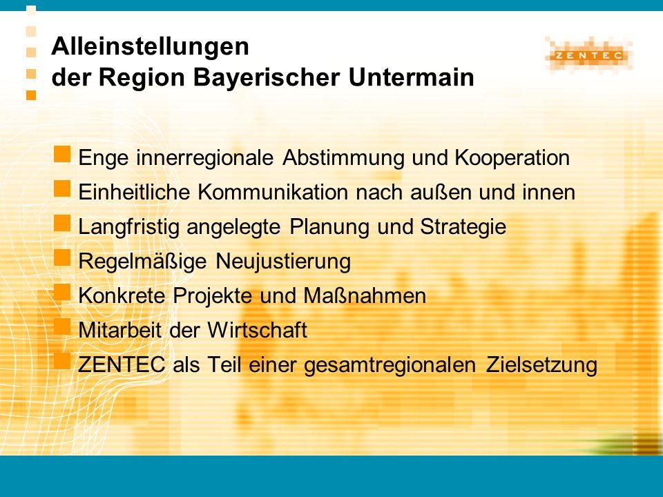Enge innerregionale Abstimmung und Kooperation Einheitliche Kommunikation nach außen und innen Langfristig angelegte Planung und Strategie Regelmäßige