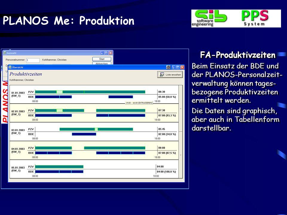 PLANOS Me: Produktion FA-Rückmeldung – Betriebsdatenerfassung Für Abteilungen, deren Zeiten nicht über arbeits- gangbezogene Lohnscheine rückerfasst w