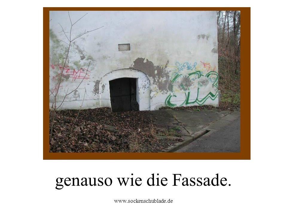 www.sockenschublade.de genauso wie die Fassade.