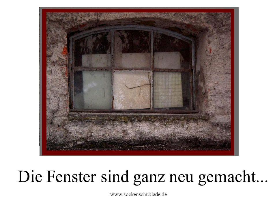 www.sockenschublade.de Die Fenster sind ganz neu gemacht...
