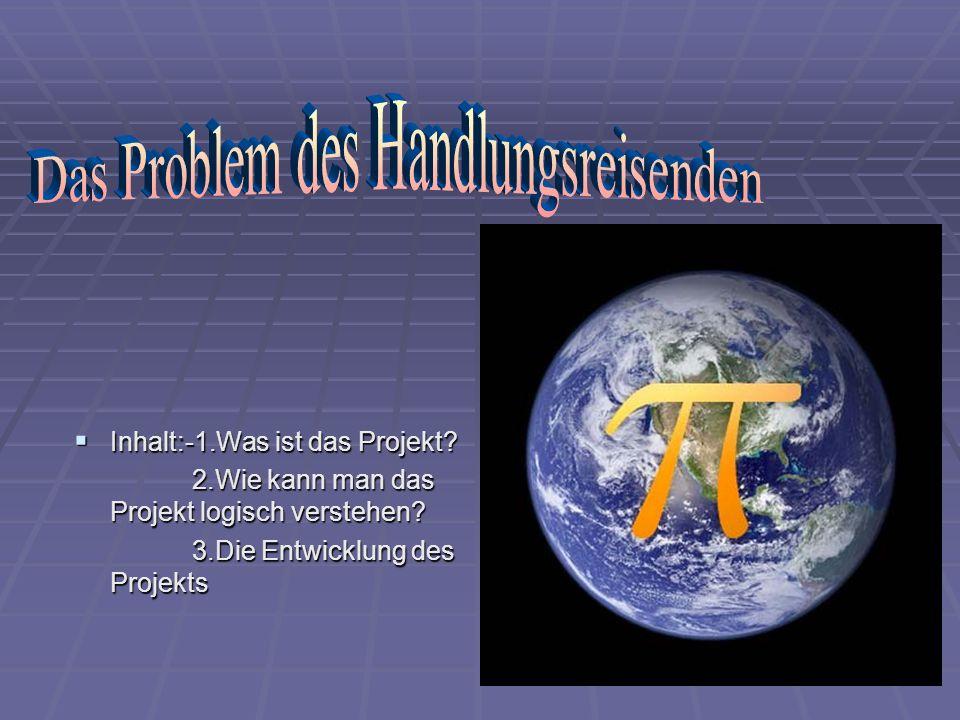 Inhalt:-1.Was ist das Projekt? Inhalt:-1.Was ist das Projekt? 2.Wie kann man das Projekt logisch verstehen? 2.Wie kann man das Projekt logisch versteh