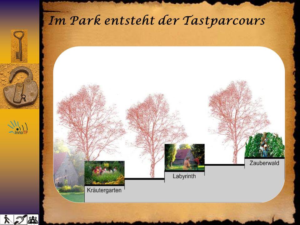 Im Park entsteht der Tastparcours