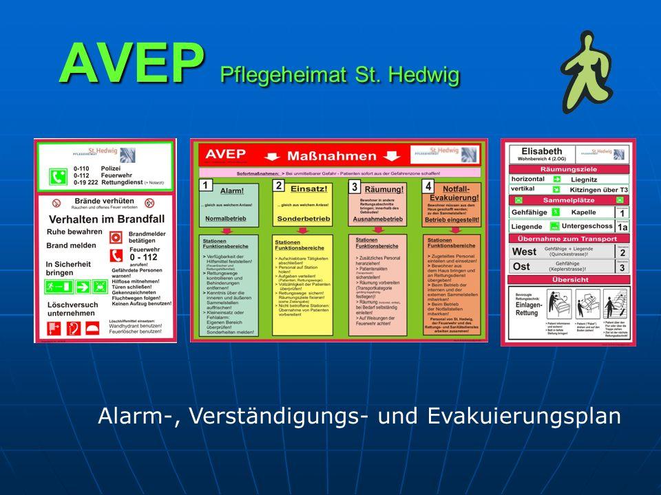 AVEP Pflegeheimat St. Hedwig Alarm-, Verständigungs- und Evakuierungsplan