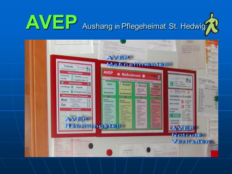 AVEP Aushang in Pflegeheimat St. Hedwig