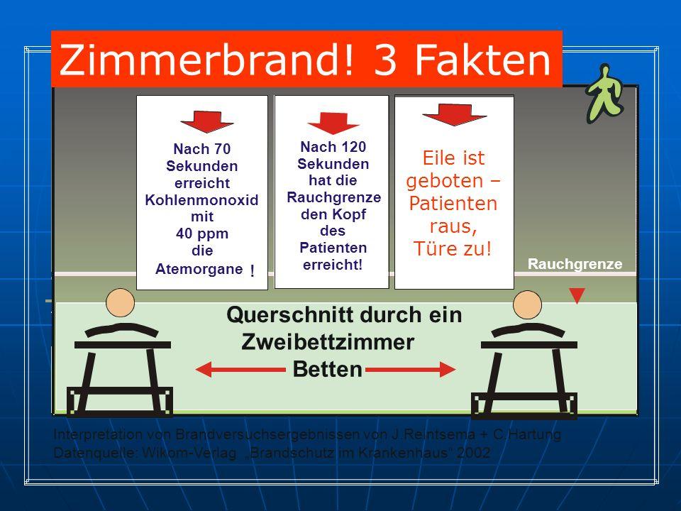 Interpretation von Brandversuchsergebnissen von J.Reintsema + C.Hartung Datenquelle: Wikom-Verlag Brandschutz im Krankenhaus 2002 Querschnitt durch ei