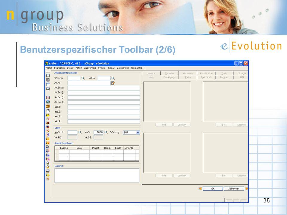 35 Benutzerspezifischer Toolbar (2/6)