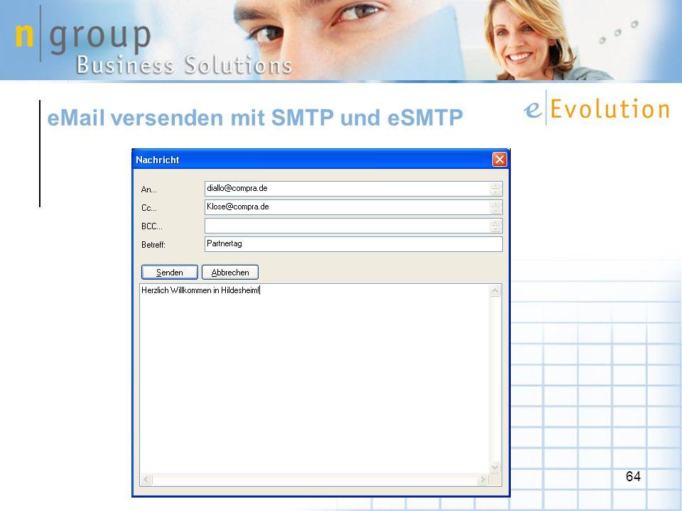 64 eMail versenden mit SMTP und eSMTP