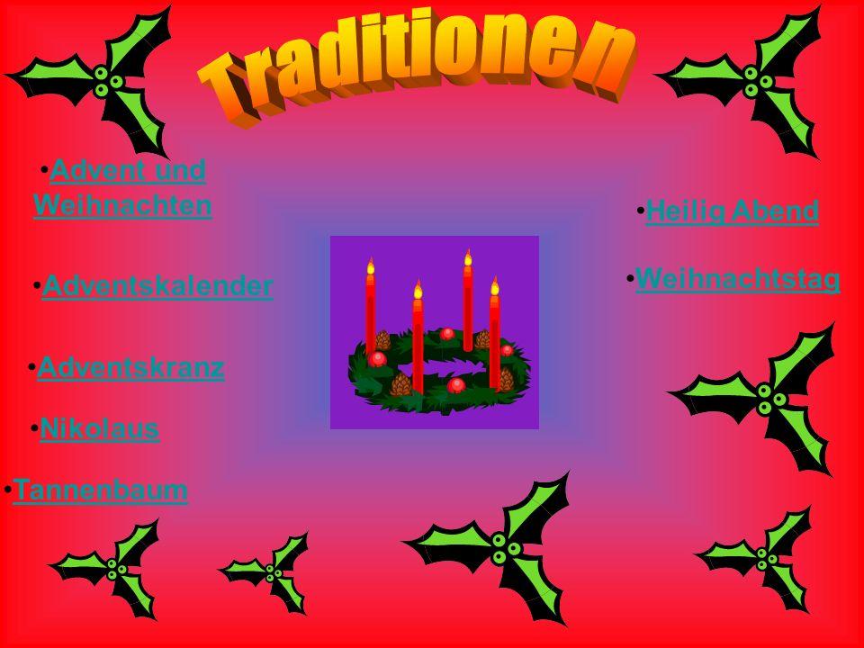 Advent und Weihnachten Adventskalender Adventskranz Nikolaus Tannenbaum Heilig Abend Weihnachtstag