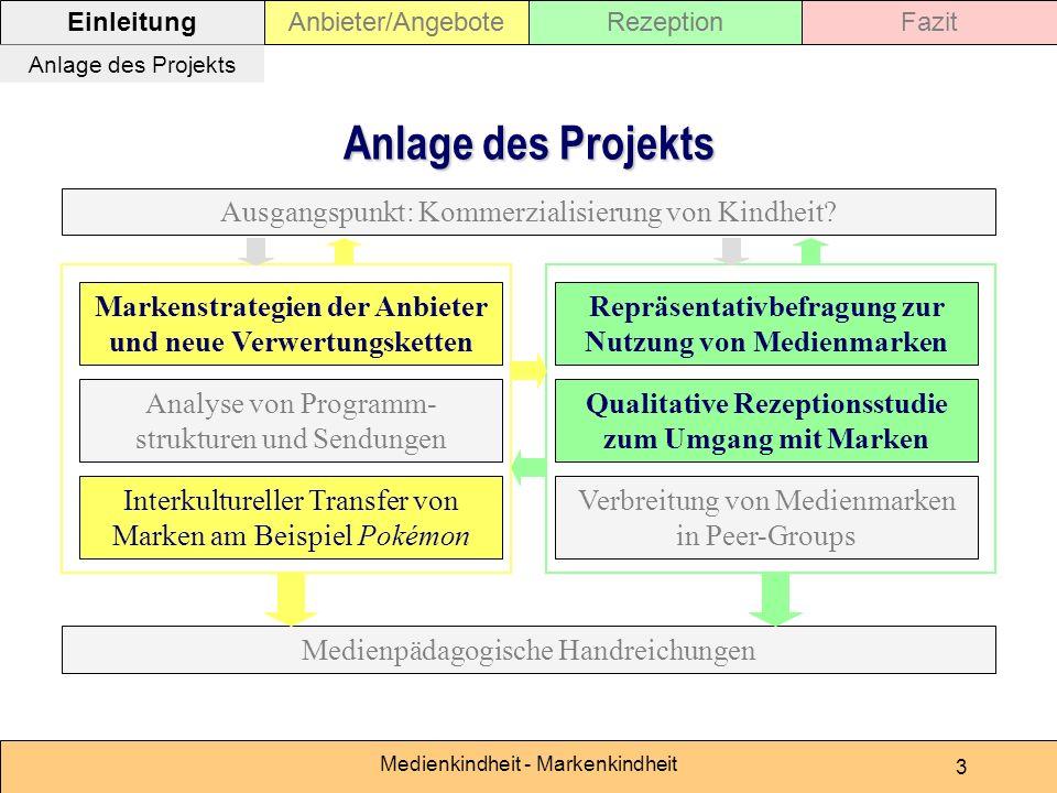 Medienkindheit - Markenkindheit 3 Rezeption Repräsentativbefragung zur Nutzung von Medienmarken Qualitative Rezeptionsstudie zum Umgang mit Marken Mar