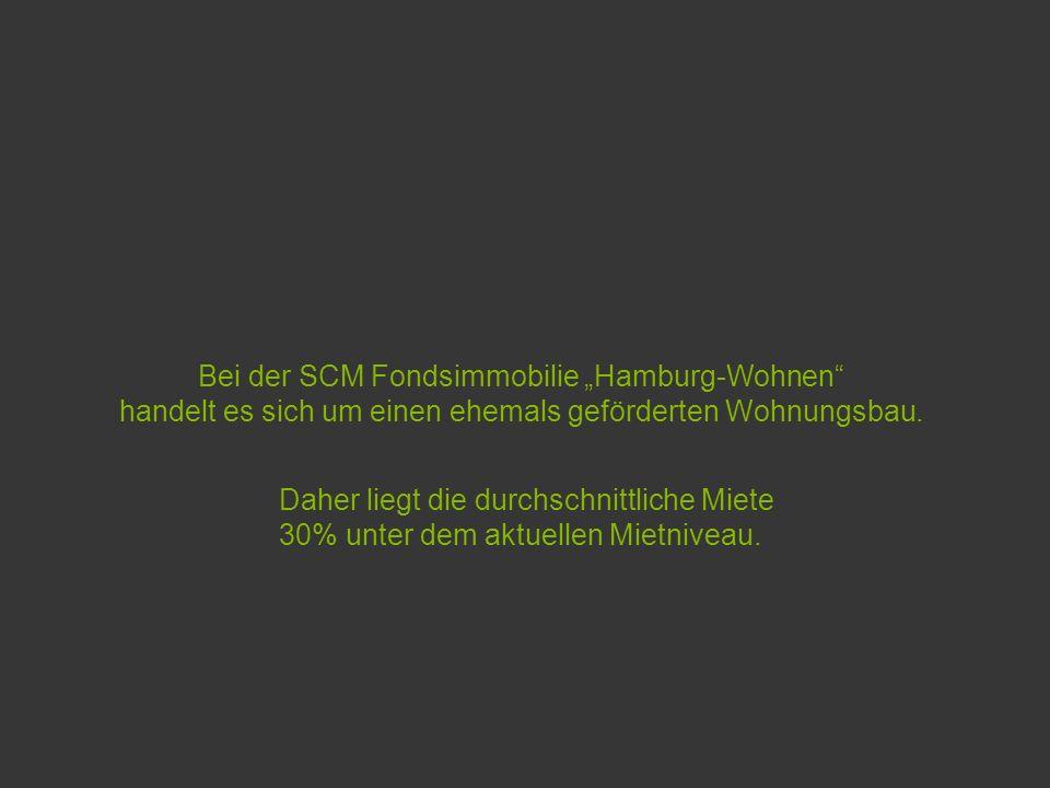 Bei der SCM Fondsimmobilie Hamburg-Wohnen handelt es sich um einen ehemals geförderten Wohnungsbau.
