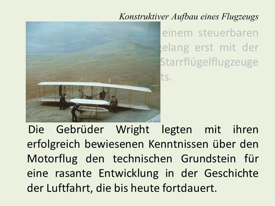 Konstruktions- und Baugruppen mit Sektionsteilung Konstruktiver Aufbau eines Flugzeugs