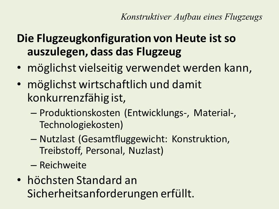 Bauweisen Übersicht der Bauweisen im Flugzeugbau Fachwerkbauweise Holm- bzw.
