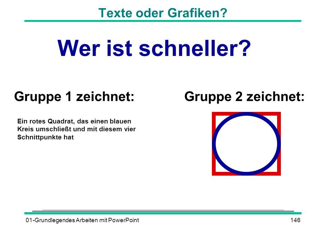 01-Grundlegendes Arbeiten mit PowerPoint146 Ein rotes Quadrat, das einen blauen Kreis umschließt und mit diesem vier Schnittpunkte hat Gruppe 1 zeichn