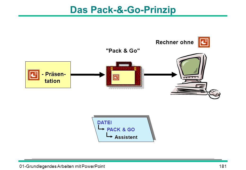 01-Grundlegendes Arbeiten mit PowerPoint181 Das Pack-&-Go-Prinzip Rechner ohne