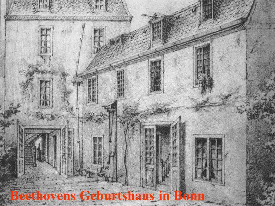 Ludwig van Beethoven wurde 1770 in Bonn geboren.