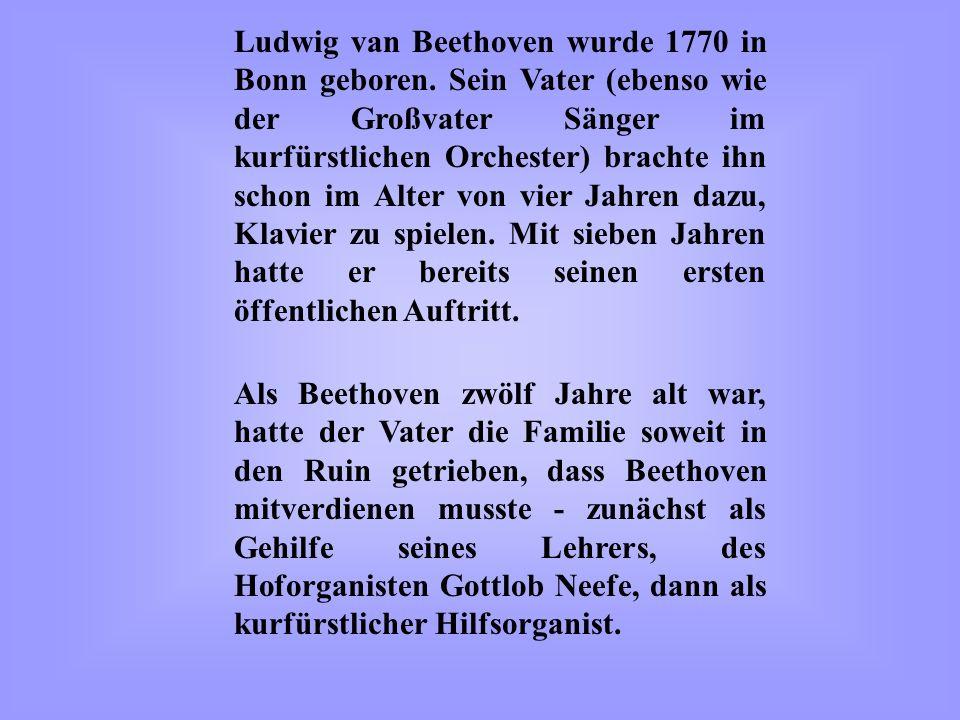 Anfang Dezember 1826 zog sich Beethoven eine Lungenentzündung zu.