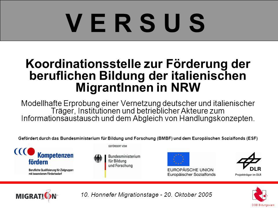 DGB Bildungswerk 10. Honnefer Migrationstage - 20.