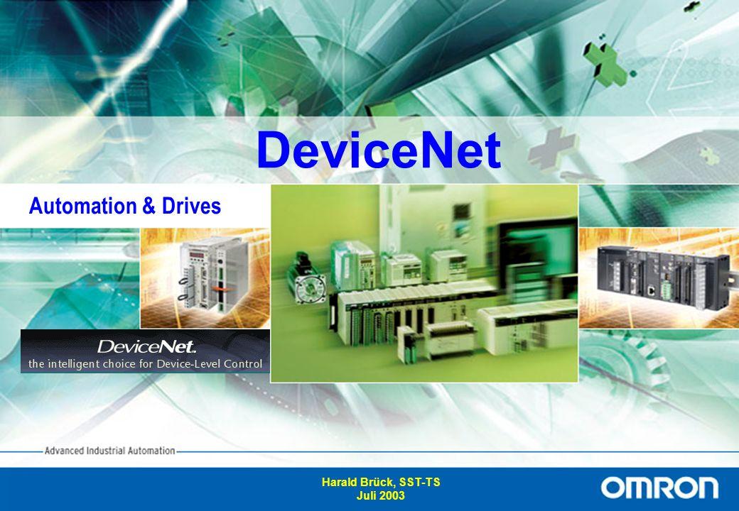 12 Spannungsversorgung für das DeviceNet Im Gegensatz zu anderen Netzen, muss das DeviceNet auch mit 24V versorgt werden.