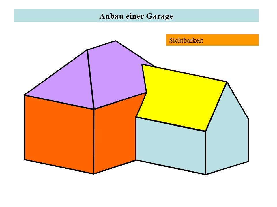 Anbau einer Garage Sichtbarkeit P