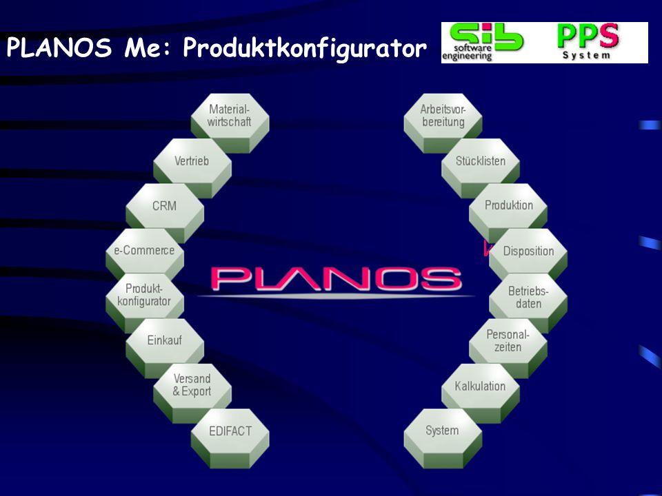 PLANOS Me: Produktkonfigurator