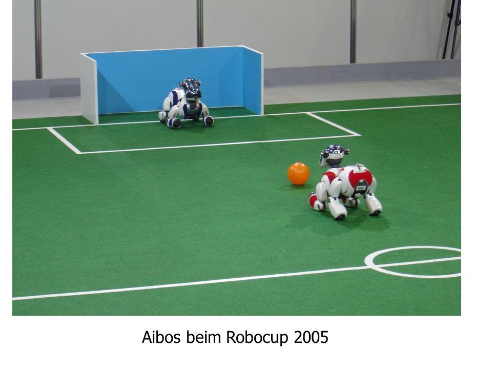 4 Automatisierung Mit Hilfe programmgesteuerter Systeme lassen sich Vorgänge automatisieren. Aibos beim Robocup 2005