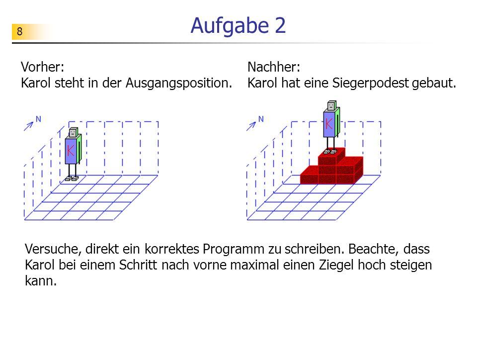 49 Strukturbetonte Darstellung solange NichtIstMarke tue MarkeSetzen wenn IstZiegel dann Schritt sonst LinksDrehen wenn IstZiegel dann Schritt sonst RechtsDrehen RechtsDrehen Schritt *wenn *wenn *solange Struktogramm Programm