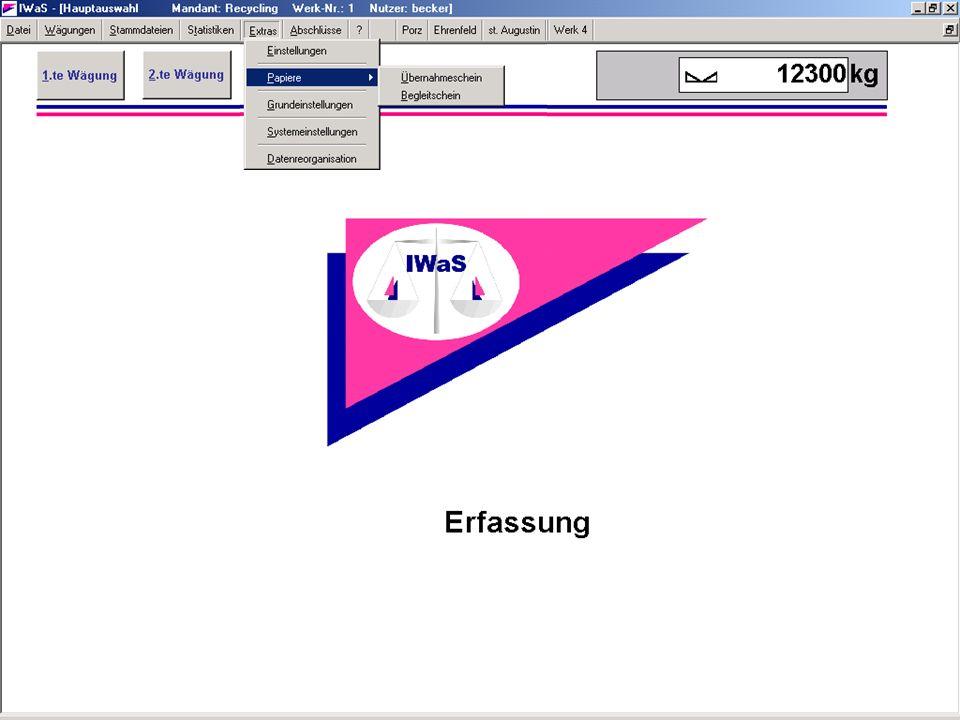 Hauptmenü-Extras-Papiere