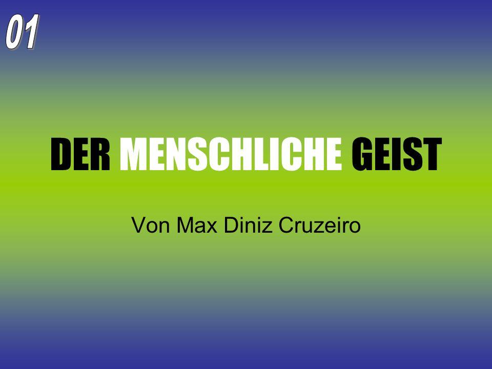 Der Gehirnapparat nach Max Diniz Cruzeiro Computerähnliche Funktionsweise; Vielfalt der Verbindungen; Begrenzte Speicherkapazität; Die Neurochemie der Informationen; Verständigungsformen zwischen den Sektoren der menschlichen Maschine (Schwerpunkt: Sinne).