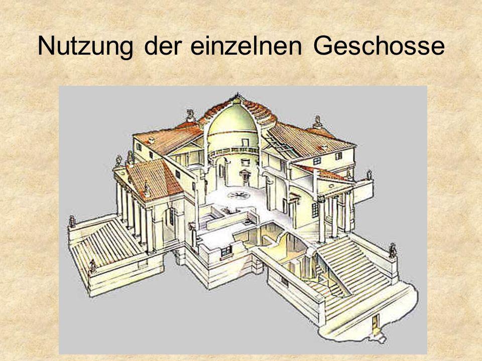 Raumaufteilung Geschosse Piano attico (Halbgeschoss) Piano nobile (Hauptgeschoss) Pianterreno (Untergeschoss)
