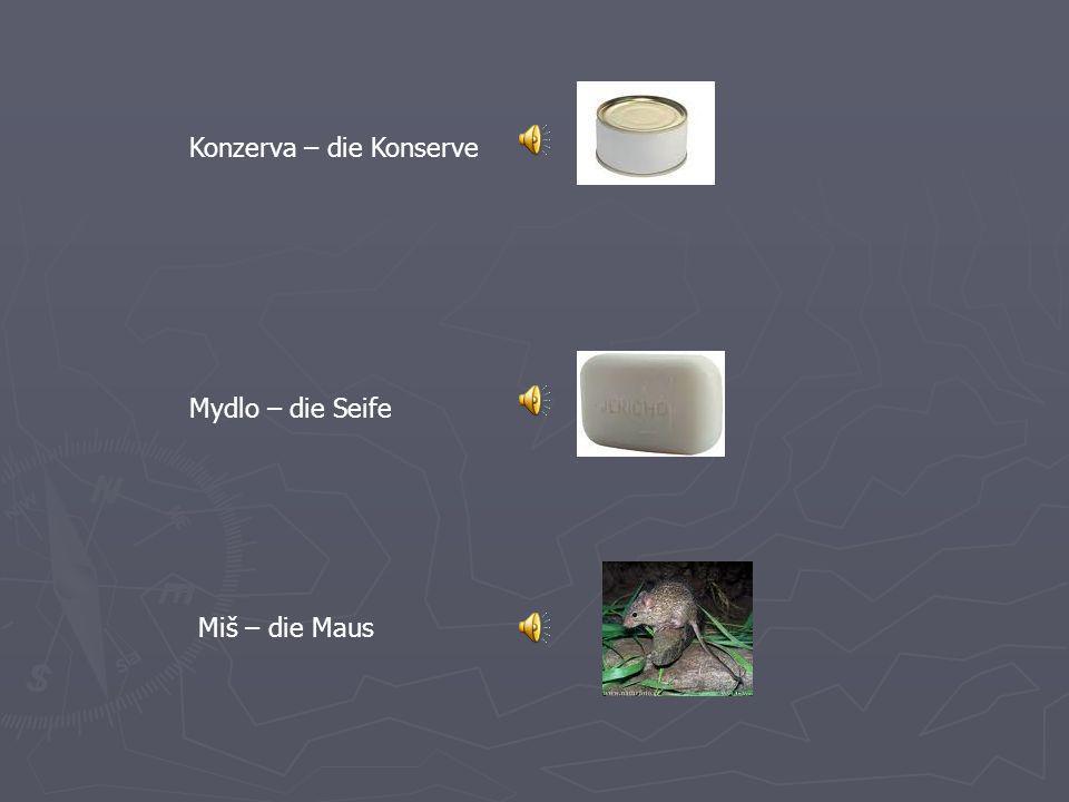 Koleso - das Rad Kométa - der Komet Komín- der Schornstein