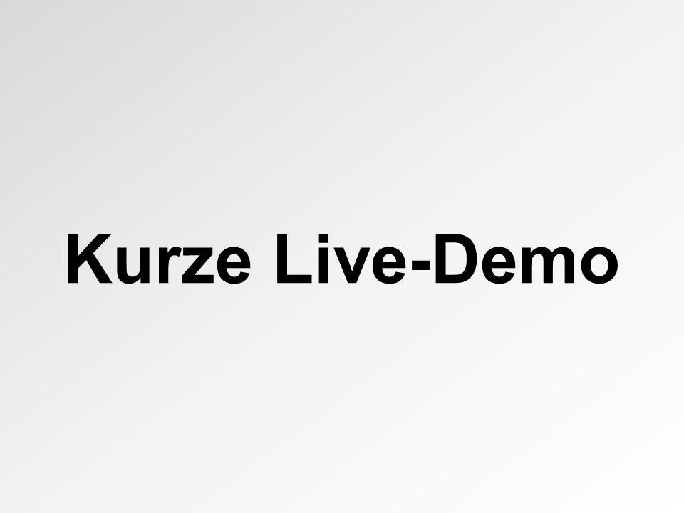 Kurze Live-Demo