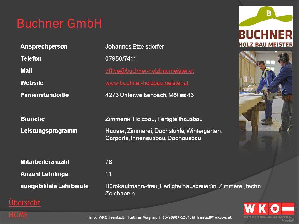 Info: WKO Freistadt, Kathrin Wagner, T 05-90909-5204, M freistadt@wkooe.at HOME Übersicht Ansprechperson Telefon Mail Website Firmenstandort/e Branche Leistungsprogramm Mitarbeiteranzahl Anzahl Lehrlinge ausgebildete Lehrberufe Danner Holzdesign KG AnsprechpersonWolfgang Danner Telefon07947/6234 Mailfirma@danner-holzdesign.at Websitewww.danner-holzdesign.at Firmenstandort/e4292 Kefermarkt, Im Tal 6 Brancheholzverarbeitendes Gewerbe LeistungsprogrammStiegen, Balkone, Überdachungen, Holz-Alu-Niro Mitarbeiteranzahl13 Anzahl Lehrlinge- ausgebildete LehrberufeTischler/in