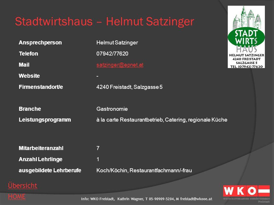 Info: WKO Freistadt, Kathrin Wagner, T 05-90909-5204, M freistadt@wkooe.at HOME Übersicht Ansprechperson Telefon Mail Website Firmenstandort/e Branche Leistungsprogramm Mitarbeiteranzahl Anzahl Lehrlinge ausgebildete Lehrberufe Schaschinger Willibald- Unimarkt AnsprechpersonWillibald Schaschinger Telefon07946/5112-2 Mailwillibald.schaschinger@unimarkt-partner.at Websitewww.unimarkt.at Firmenstandort/e4293 Gutau, Vogeltennstraße 2 BrancheLebensmitteleinzelhandel LeistungsprogrammLebensmitteleinzelhandel Mitarbeiteranzahl12 Anzahl Lehrlinge2 ausgebildete LehrberufeEinzelhandelskaufmann/-frau