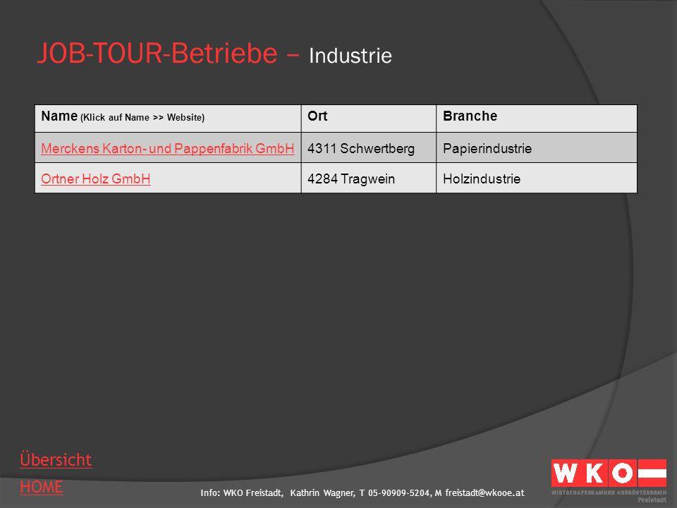 Info: WKO Freistadt, Kathrin Wagner, T 05-90909-5204, M freistadt@wkooe.at HOME Übersicht Ansprechperson Telefon Mail Website Firmenstandort/e Branche Leistungsprogramm Mitarbeiteranzahl Anzahl Lehrlinge ausgebildete Lehrberufe AMS Engineering GmbH AnsprechpersonDI (FH) Ulrike Wingelhofer Telefon07236/3351-9131 Mailulrike.wingelhofer@ams-engineering.com Websitewww.ams-engineering.com Firmenstandort/e4232 Hagenberg, Softwarepark 37 4800 Attnang-Puchheim, Salzburger Straße 52 BrancheIT/Softwareentwicklung Leistungsprogramminternational tätig, Entwicklung und Integration von Standardsoft- ware zur Anlagen- und Qualitätsdatenoptimierung; Produktions- analyse; Optimierung bei industriellen Serienfertigern sowie Gebäude- und Laborautomaten Mitarbeiteranzahl106 Anzahl Lehrlinge15 ausgebildete LehrberufeBürokaufmann/-frau, Elektrobetriebstechnik, Informations- Technologie-Informatik, Informationstechnologie-Technik