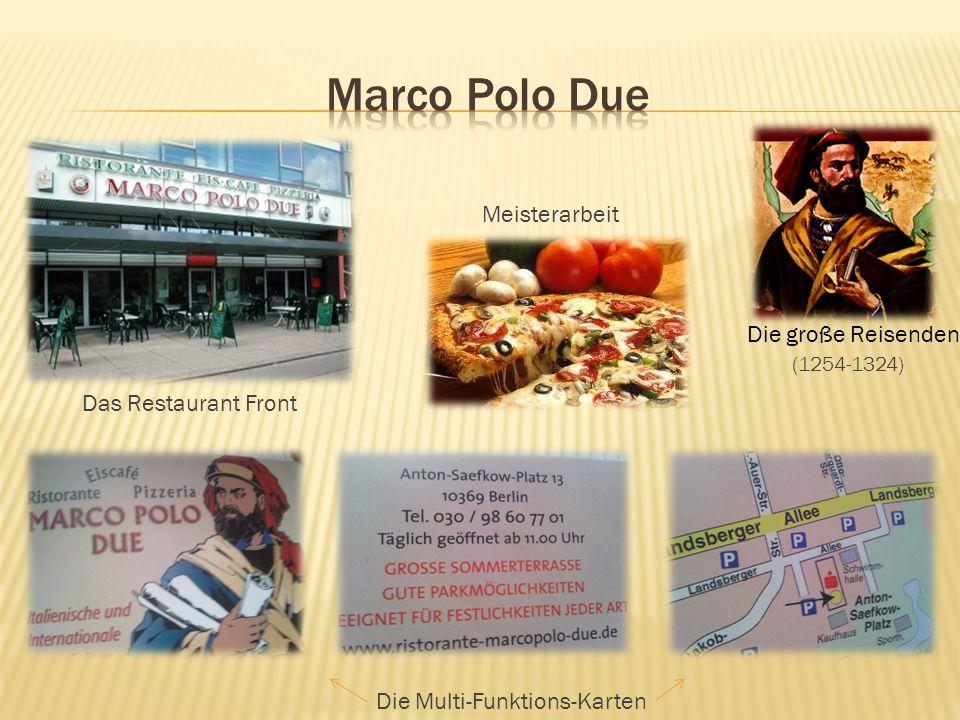 (1254-1324) Meisterarbeit Das Restaurant Front Die Multi-Funktions-Karten Die große Reisenden