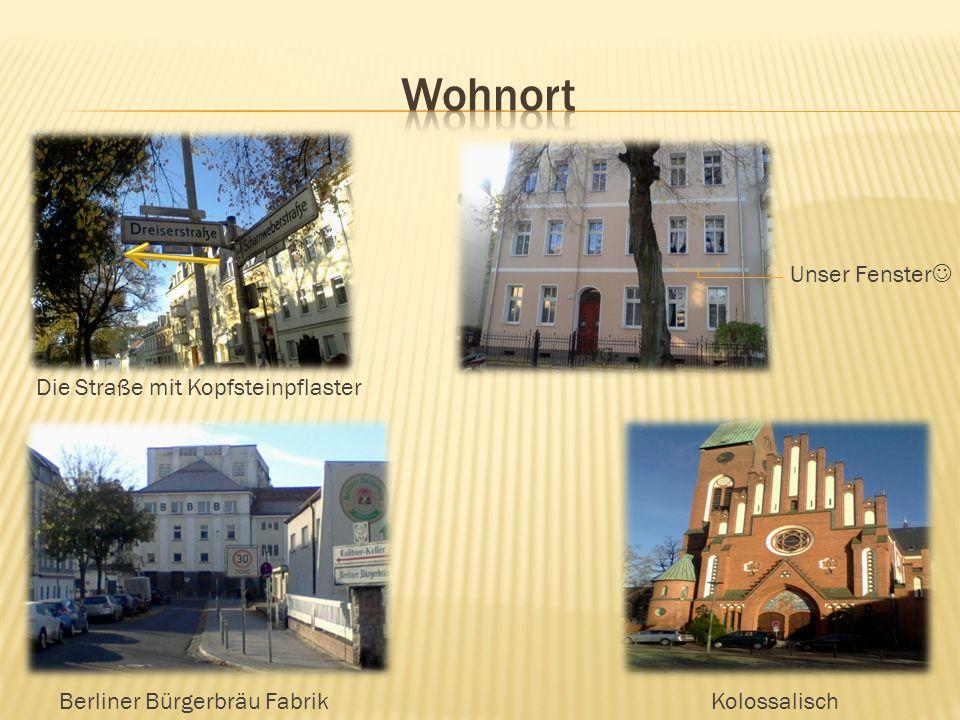 Unser Fenster Die Straße mit Kopfsteinpflaster Berliner Bürgerbräu FabrikKolossalisch