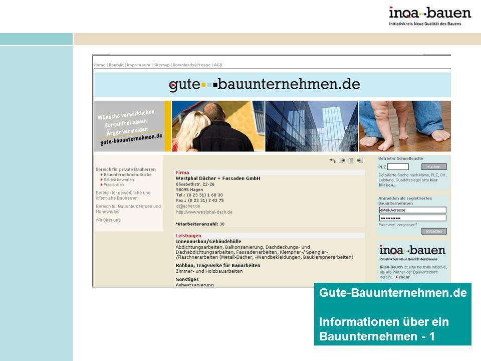 Gute-Bauunternehmen.de Informationen über ein Bauunternehmen - 1