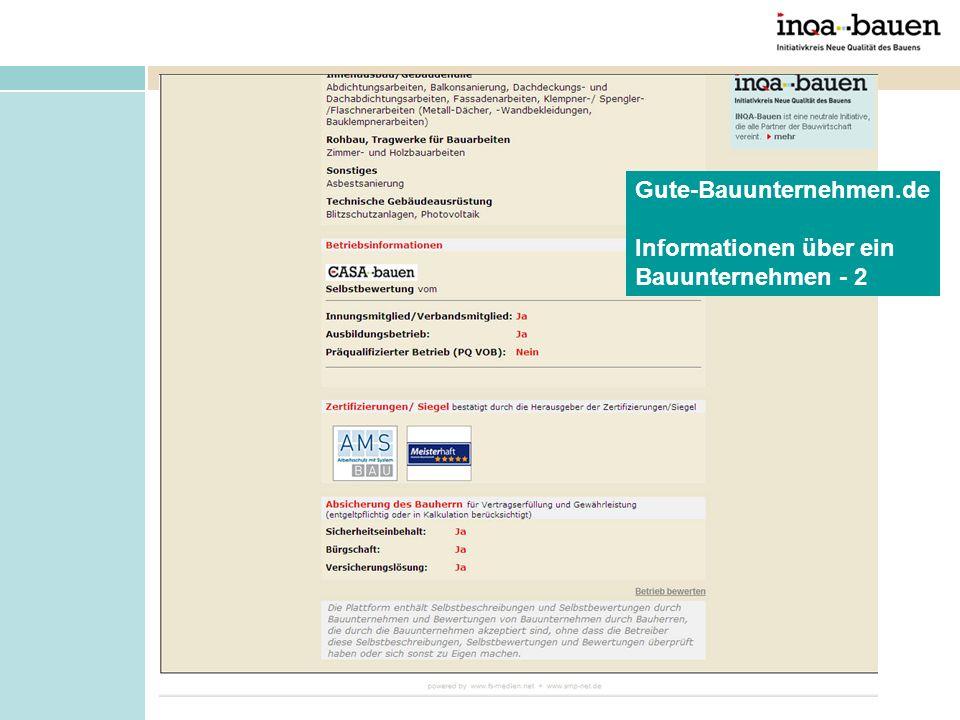 Gute-Bauunternehmen.de Informationen über ein Bauunternehmen - 2