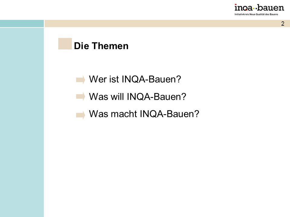 2 Wer ist INQA-Bauen? Was will INQA-Bauen? Was macht INQA-Bauen? Die Themen