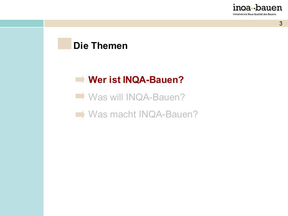 3 Wer ist INQA-Bauen? Was will INQA-Bauen? Was macht INQA-Bauen? Die Themen