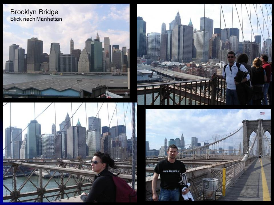 Brooklyn Bridge Blick nach Manhattan