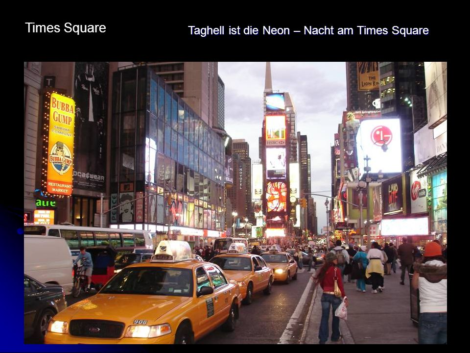 Times Square Taghell ist die Neon – Nacht am Times Square
