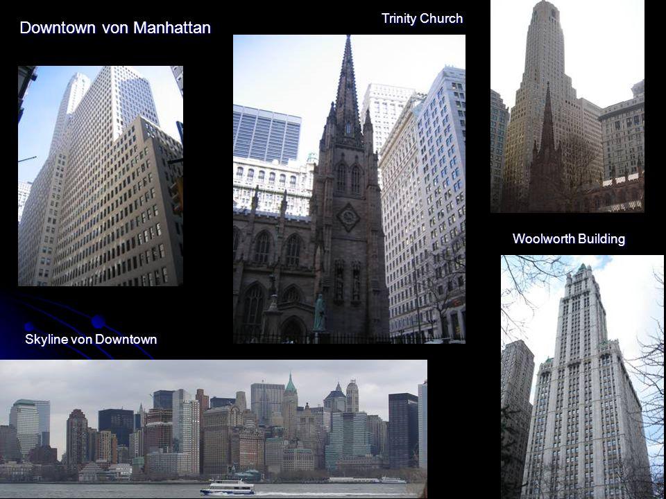 Downtown von Manhattan Ground Zero Eine riesiges Baustelle..