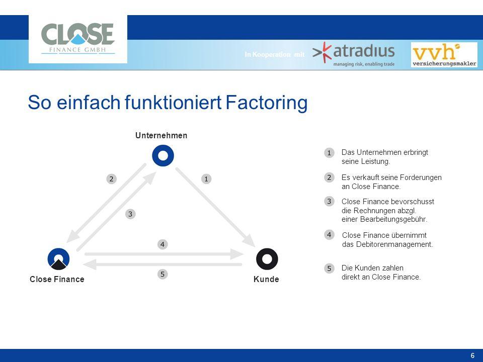 In Kooperation mit 17 Unsere Kernkompetenz ist Factoring Wir sind ein dynamisch wachsender Finanzdienstleister mit Sitz in Mainz (Umsatz GJ 2007/2008 > 500 Mio.