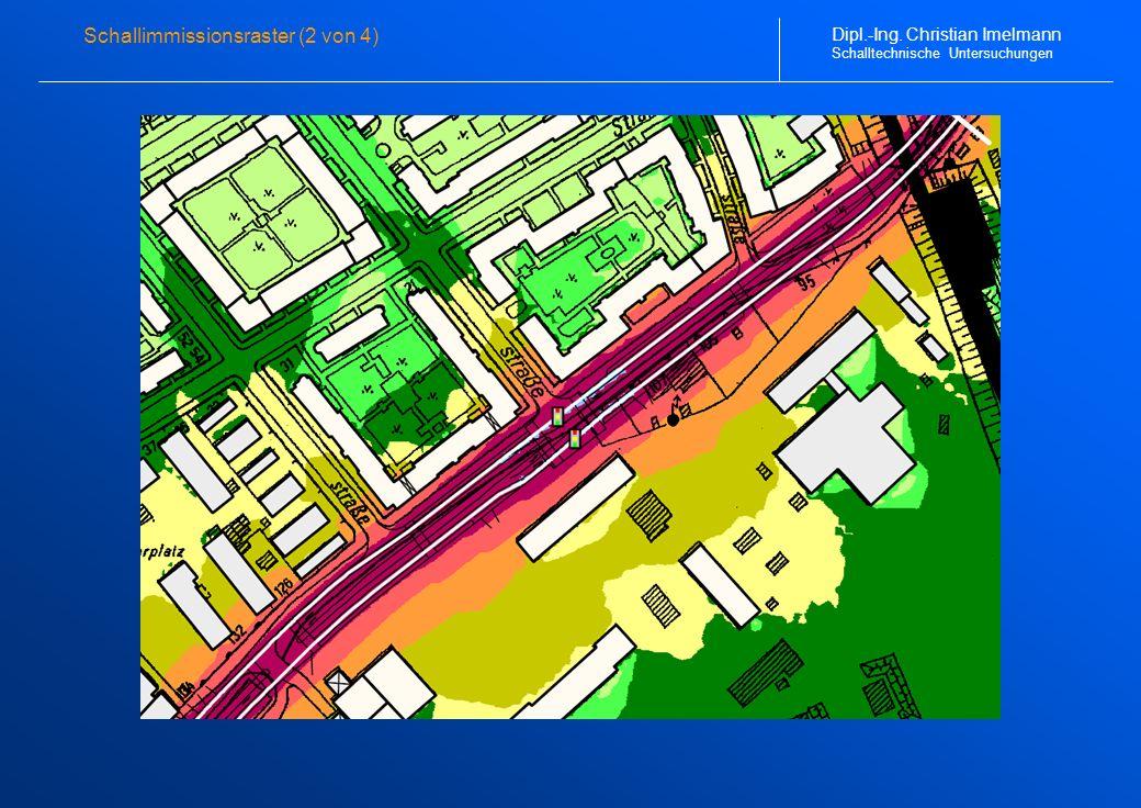 Schallimmissionsraster (2 von 4) Dipl.-Ing. Christian Imelmann Schalltechnische Untersuchungen