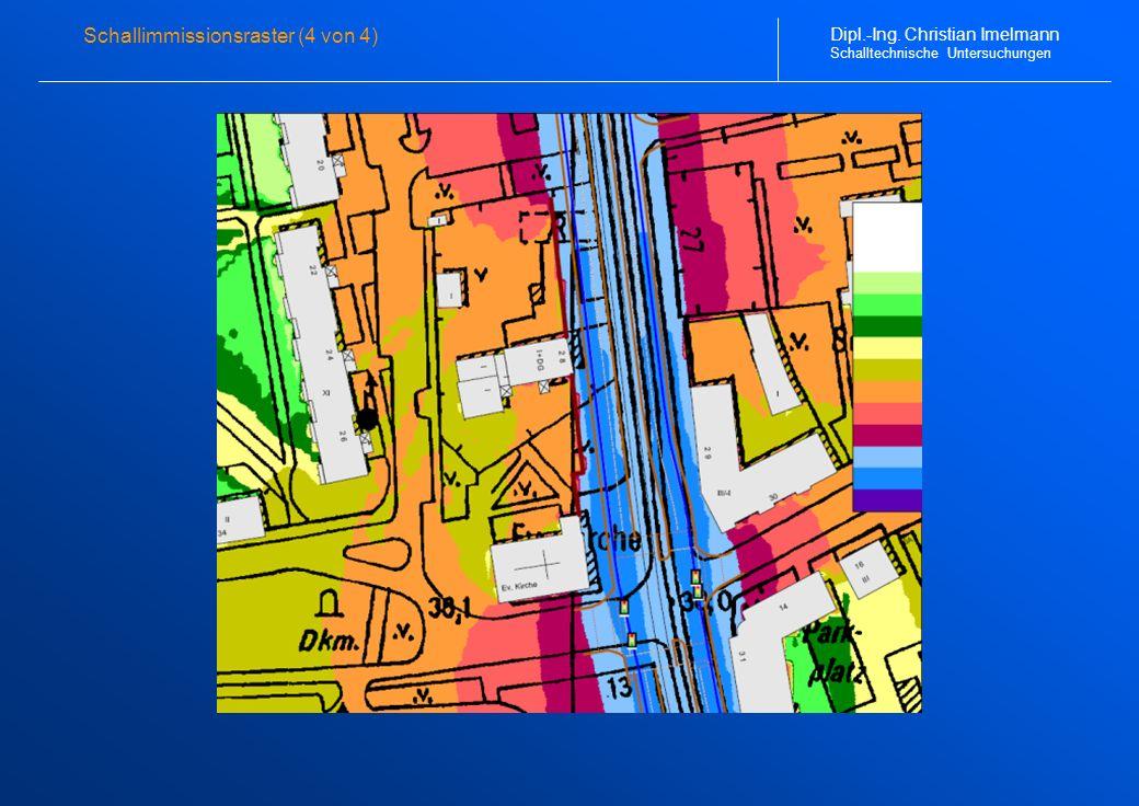 Schallimmissionsraster (4 von 4) Dipl.-Ing. Christian Imelmann Schalltechnische Untersuchungen