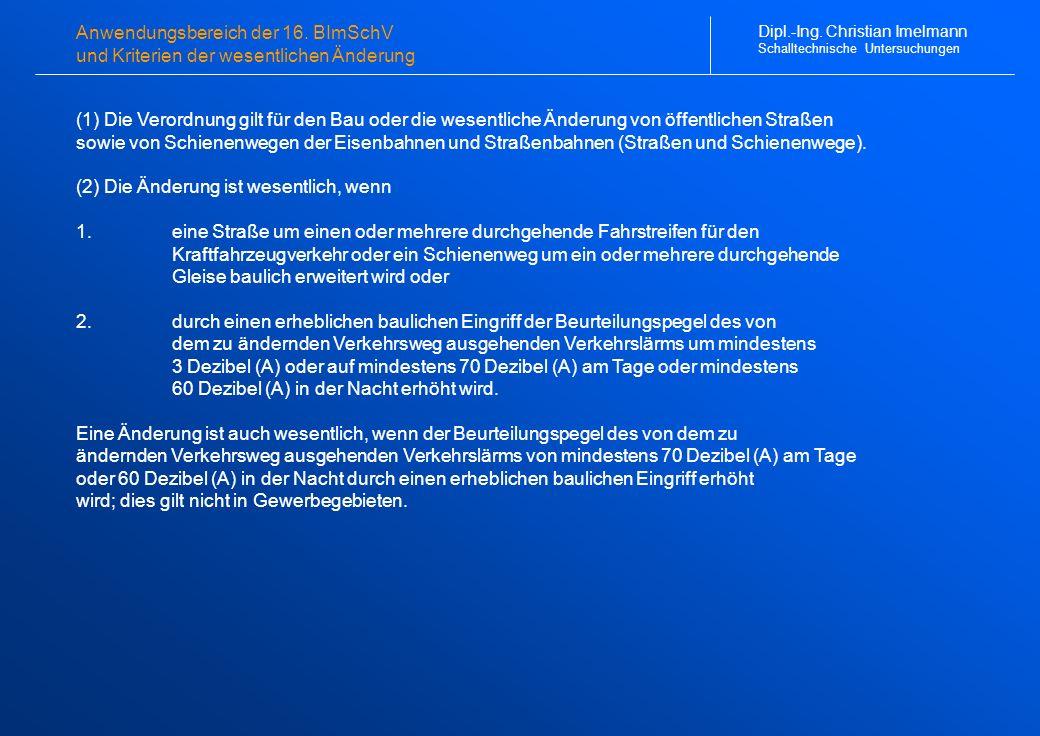 Ergebnisse der Schalltechnischen Berechnungen (1 von 2) Dipl.-Ing.